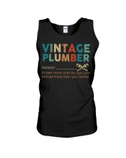 Vintage Plumber define knows more than he says  Unisex Tank thumbnail