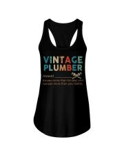 Vintage Plumber define knows more than he says  Ladies Flowy Tank thumbnail