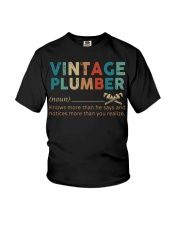 Vintage Plumber define knows more than he says  Youth T-Shirt thumbnail