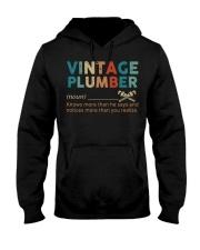 Vintage Plumber define knows more than he says  Hooded Sweatshirt thumbnail