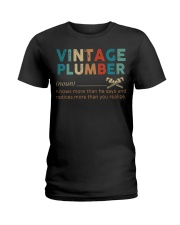 Vintage Plumber define knows more than he says  Ladies T-Shirt thumbnail