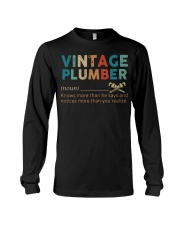 Vintage Plumber define knows more than he says  Long Sleeve Tee thumbnail