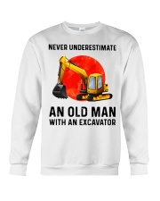 Never Underestimate an old man with an Excavator  Crewneck Sweatshirt thumbnail