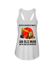 Never Underestimate an old man with an Excavator  Ladies Flowy Tank thumbnail