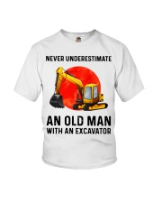 Never Underestimate an old man with an Excavator  Youth T-Shirt thumbnail