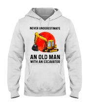 Never Underestimate an old man with an Excavator  Hooded Sweatshirt thumbnail