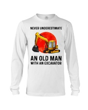Never Underestimate an old man with an Excavator  Long Sleeve Tee thumbnail