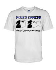 Police officer 2020 Not Quarantined T-shirt V-Neck T-Shirt thumbnail