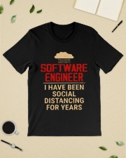 Software engineer I have been social distancing  Classic T-Shirt lifestyle-mens-crewneck-front-19