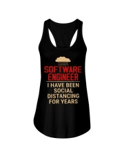 Software engineer I have been social distancing  Ladies Flowy Tank thumbnail
