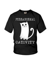 Cat Purranormal Cativity Shirt Youth T-Shirt thumbnail