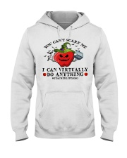 Teacher you cant scare me I can virtually do Hooded Sweatshirt thumbnail