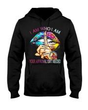 Lips Peace Whisper words of wisdom I am who I am  Hooded Sweatshirt thumbnail