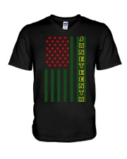 Juneteenth Flag shirt V-Neck T-Shirt thumbnail