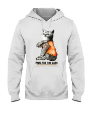 Cat tattoo Paws for the cure Multiple sclerosis  Hooded Sweatshirt thumbnail