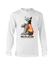 Cat tattoo Paws for the cure Multiple sclerosis  Long Sleeve Tee thumbnail