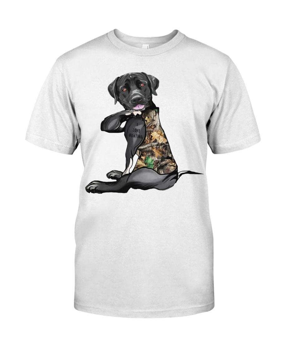 Labrador Retriever Tattoo I love hunting shirt Classic T-Shirt