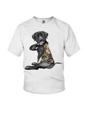 Labrador Retriever Tattoo I love hunting shirt Youth T-Shirt thumbnail