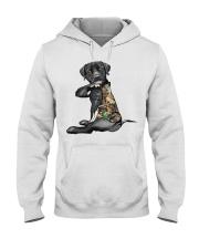 Labrador Retriever Tattoo I love hunting shirt Hooded Sweatshirt thumbnail