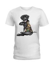 Labrador Retriever Tattoo I love hunting shirt Ladies T-Shirt thumbnail