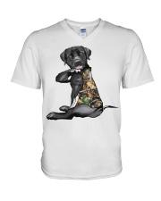 Labrador Retriever Tattoo I love hunting shirt V-Neck T-Shirt thumbnail