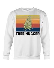 Cannabis weed tree hugger shirt Crewneck Sweatshirt thumbnail