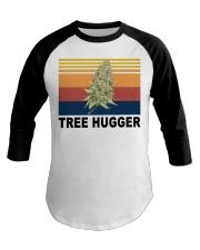 Cannabis weed tree hugger shirt Baseball Tee thumbnail