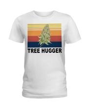 Cannabis weed tree hugger shirt Ladies T-Shirt thumbnail