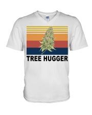 Cannabis weed tree hugger shirt V-Neck T-Shirt thumbnail