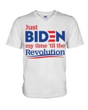 Just biden my time 'til the revolution T-shirt V-Neck T-Shirt thumbnail