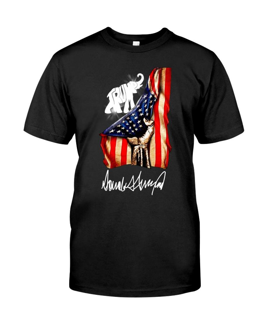 Hand American flag Trump Elephant signature shirt Classic T-Shirt