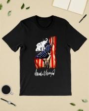 Hand American flag Trump Elephant signature shirt Classic T-Shirt lifestyle-mens-crewneck-front-19