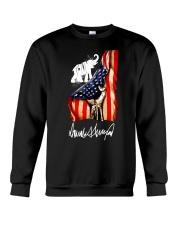 Hand American flag Trump Elephant signature shirt Crewneck Sweatshirt thumbnail