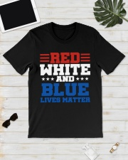 Red white and blue lives matter shirt Classic T-Shirt lifestyle-mens-crewneck-front-17
