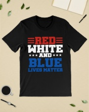 Red white and blue lives matter shirt Classic T-Shirt lifestyle-mens-crewneck-front-19