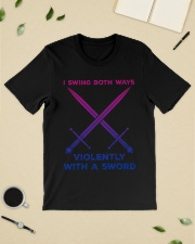 LGBT I swing both ways violently with an Sword  Classic T-Shirt lifestyle-mens-crewneck-front-19