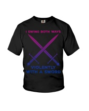 LGBT I swing both ways violently with an Sword  Youth T-Shirt thumbnail