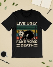 Raccoon Live Ugly Fake Your Death Vintage shirt Classic T-Shirt lifestyle-mens-crewneck-front-19