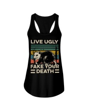 Raccoon Live Ugly Fake Your Death Vintage shirt Ladies Flowy Tank thumbnail