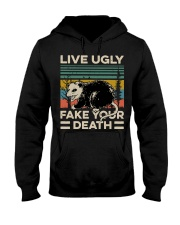 Raccoon Live Ugly Fake Your Death Vintage shirt Hooded Sweatshirt thumbnail