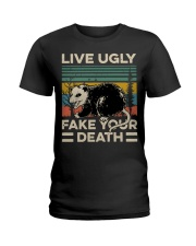 Raccoon Live Ugly Fake Your Death Vintage shirt Ladies T-Shirt thumbnail