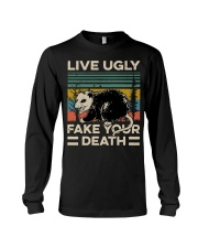Raccoon Live Ugly Fake Your Death Vintage shirt Long Sleeve Tee thumbnail