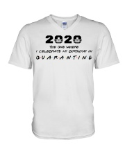2020 the one where I celebrate my birthday in  V-Neck T-Shirt thumbnail
