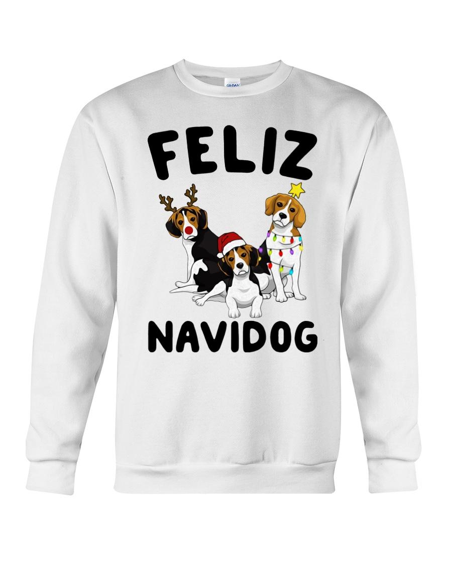 Feliz Navidog Beagle Christmas Crewneck Sweatshirt