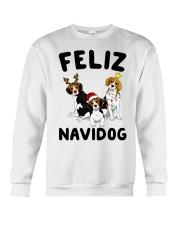Feliz Navidog Beagle Christmas Crewneck Sweatshirt front