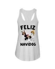 Feliz Navidog Beagle Christmas Ladies Flowy Tank thumbnail