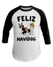 Feliz Navidog Beagle Christmas Baseball Tee thumbnail