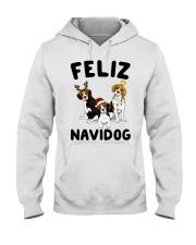 Feliz Navidog Beagle Christmas Hooded Sweatshirt thumbnail