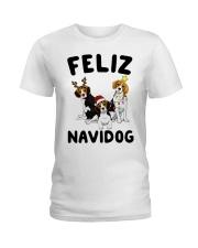 Feliz Navidog Beagle Christmas Ladies T-Shirt thumbnail
