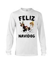 Feliz Navidog Beagle Christmas Long Sleeve Tee thumbnail